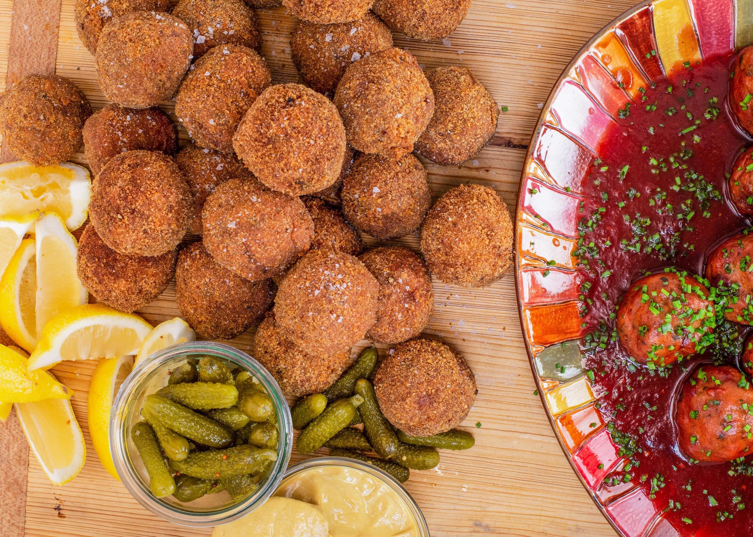 Rachael's Pork Schnitzel Meatballs