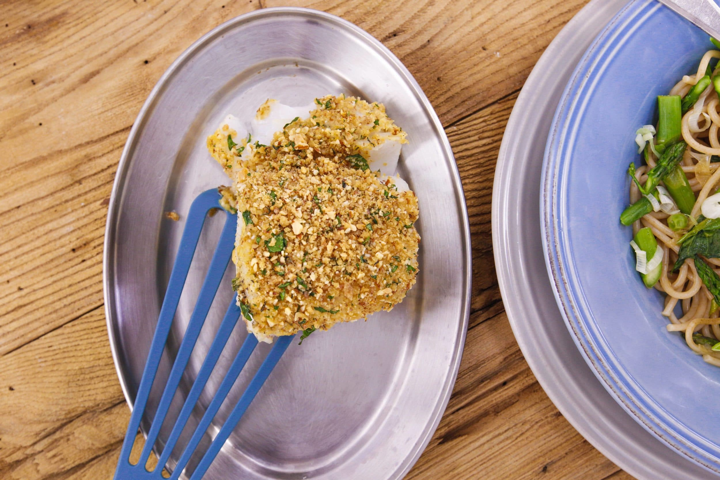 Baked Fish with Dijon and Nutty Breadcrumbs