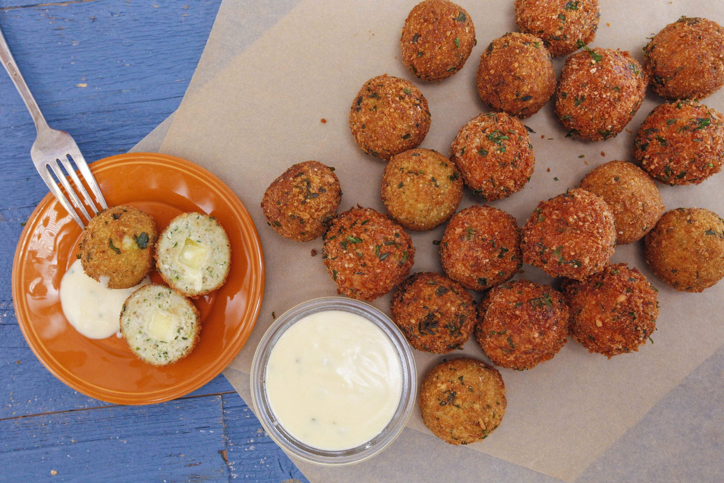Cordon Bleu Meatballs with Dijon Gravy