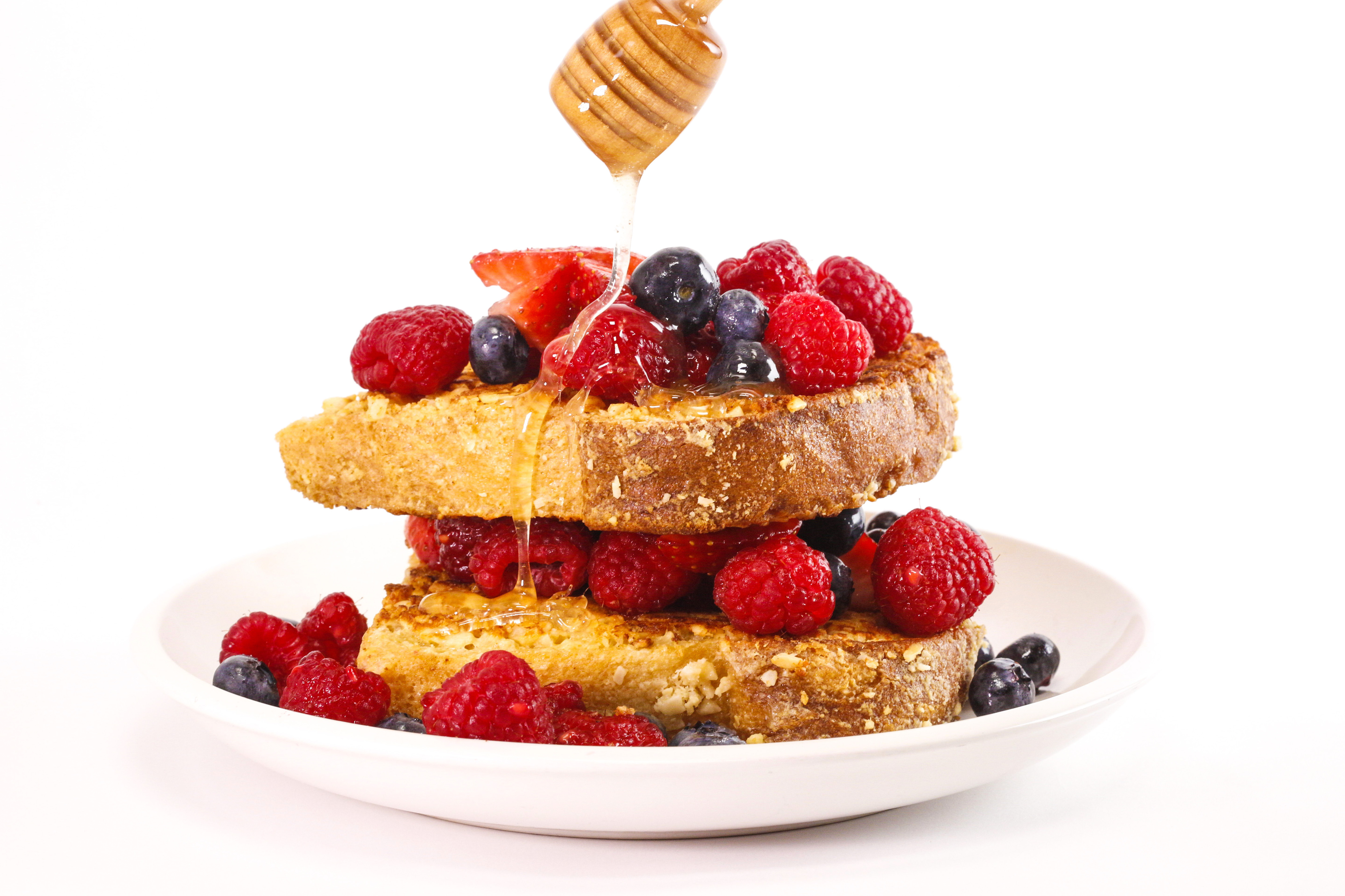 Rachael's Parmigiano-Reggiano French Toast with Sausage Patties and Warm Honey