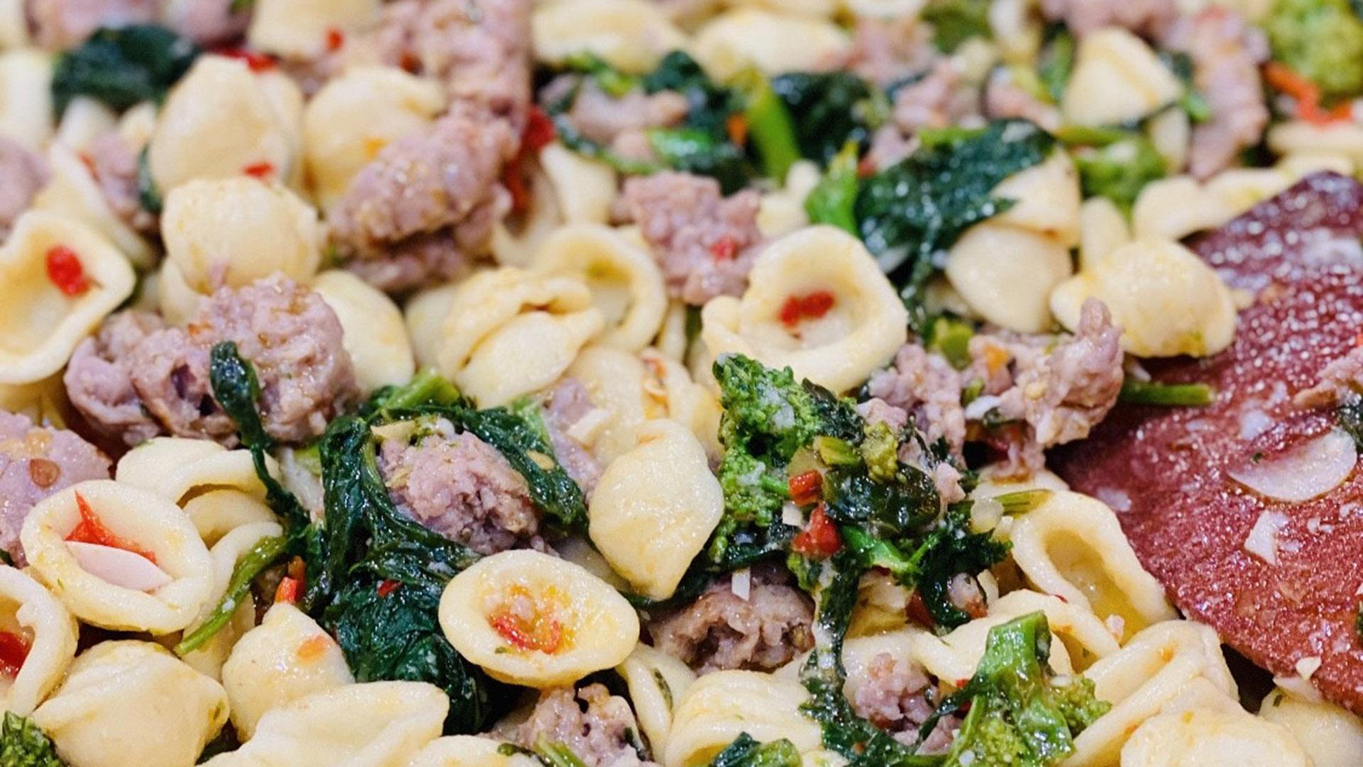 Orecchiette and Broccoli Rabe With or Without Sausage