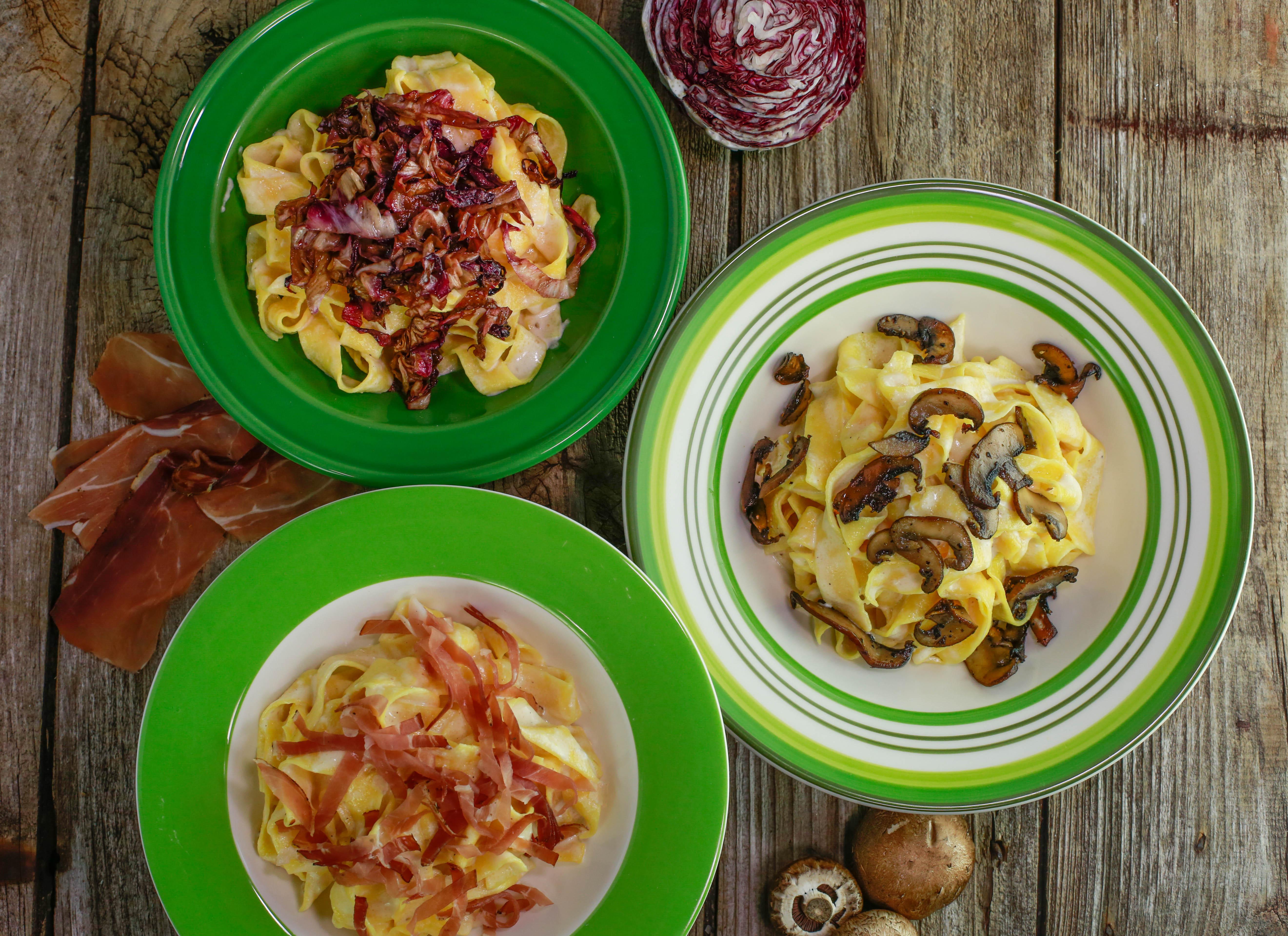 Pasta with Parmesan Fondue