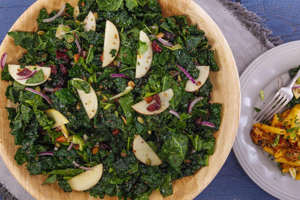 Late-Fall Salad with Apple and Pumpkin Spice Vinaigrette