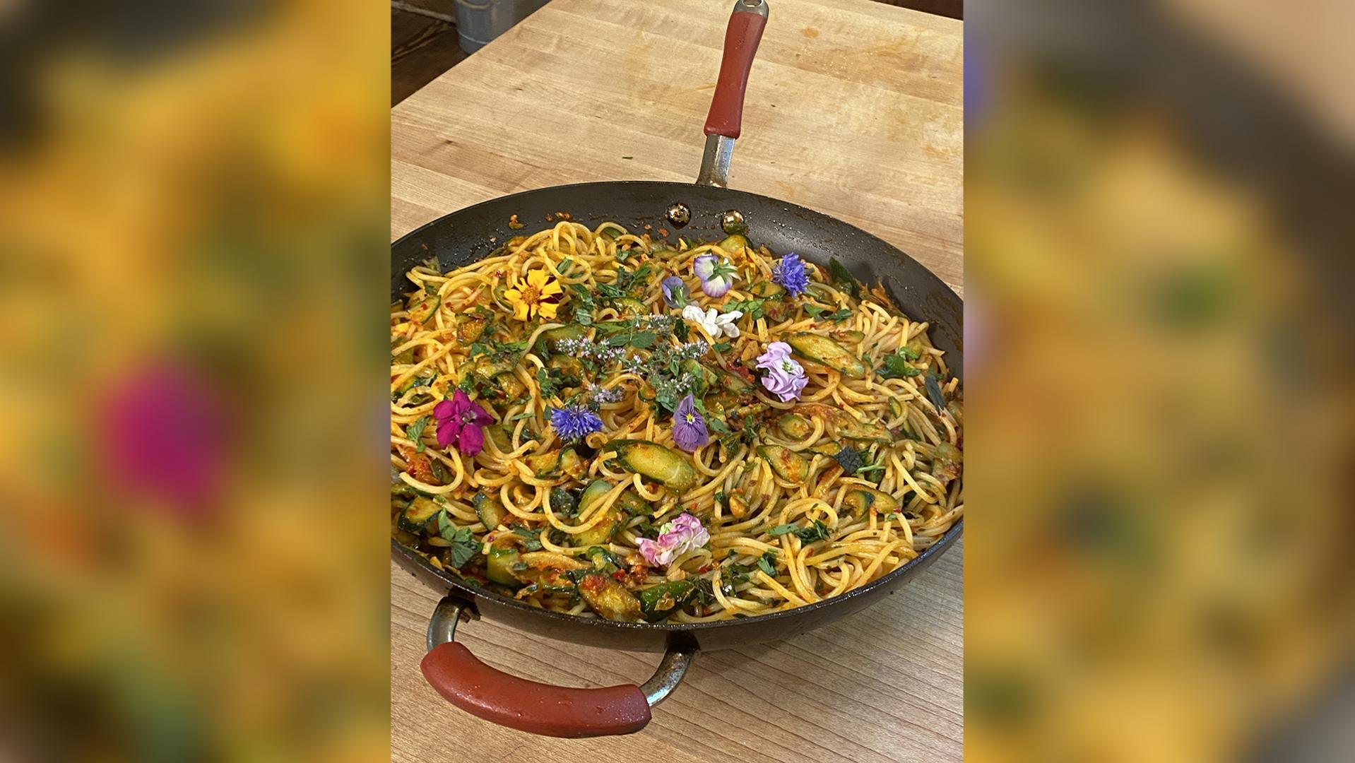 Spaghetti with Zucchini and 'Nduja