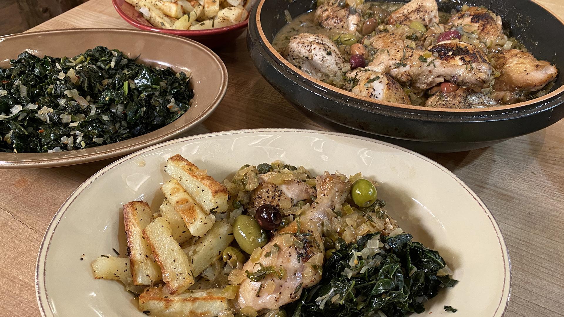 Chicken Cacciatore With White Wine Sauce (Roman-Style Pollo alla Cacciatora)