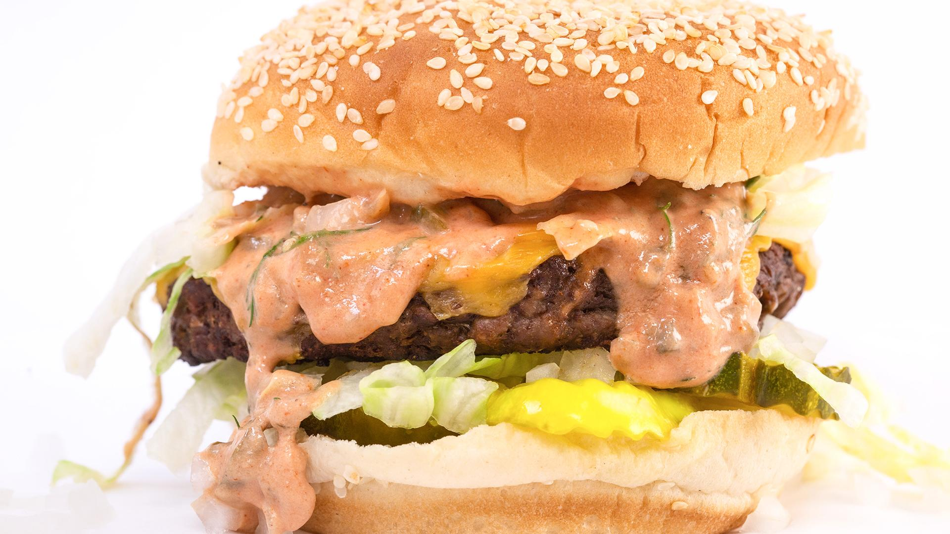 Meatless Big S'Mac Burgers