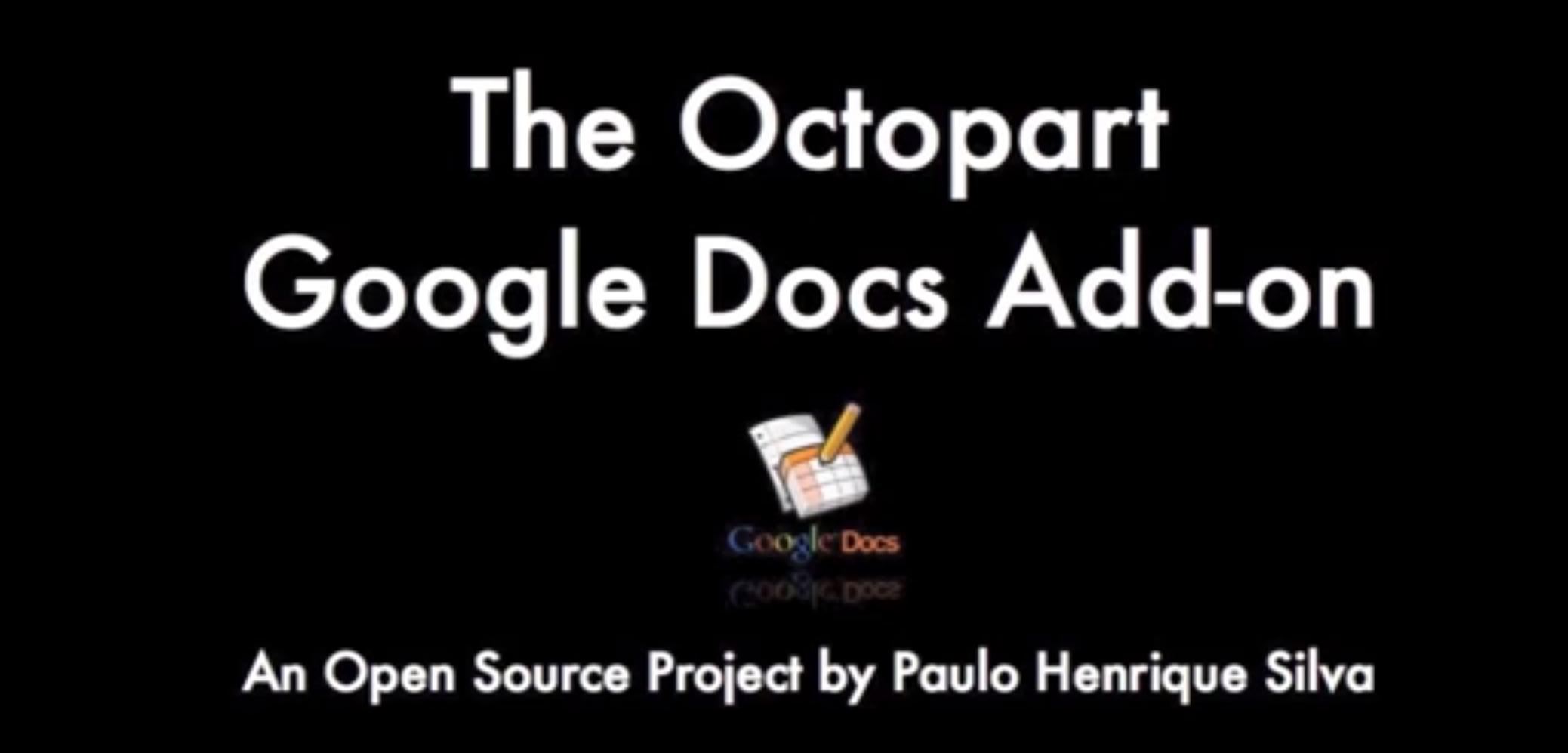 google apps add on paulo s open source project octopart