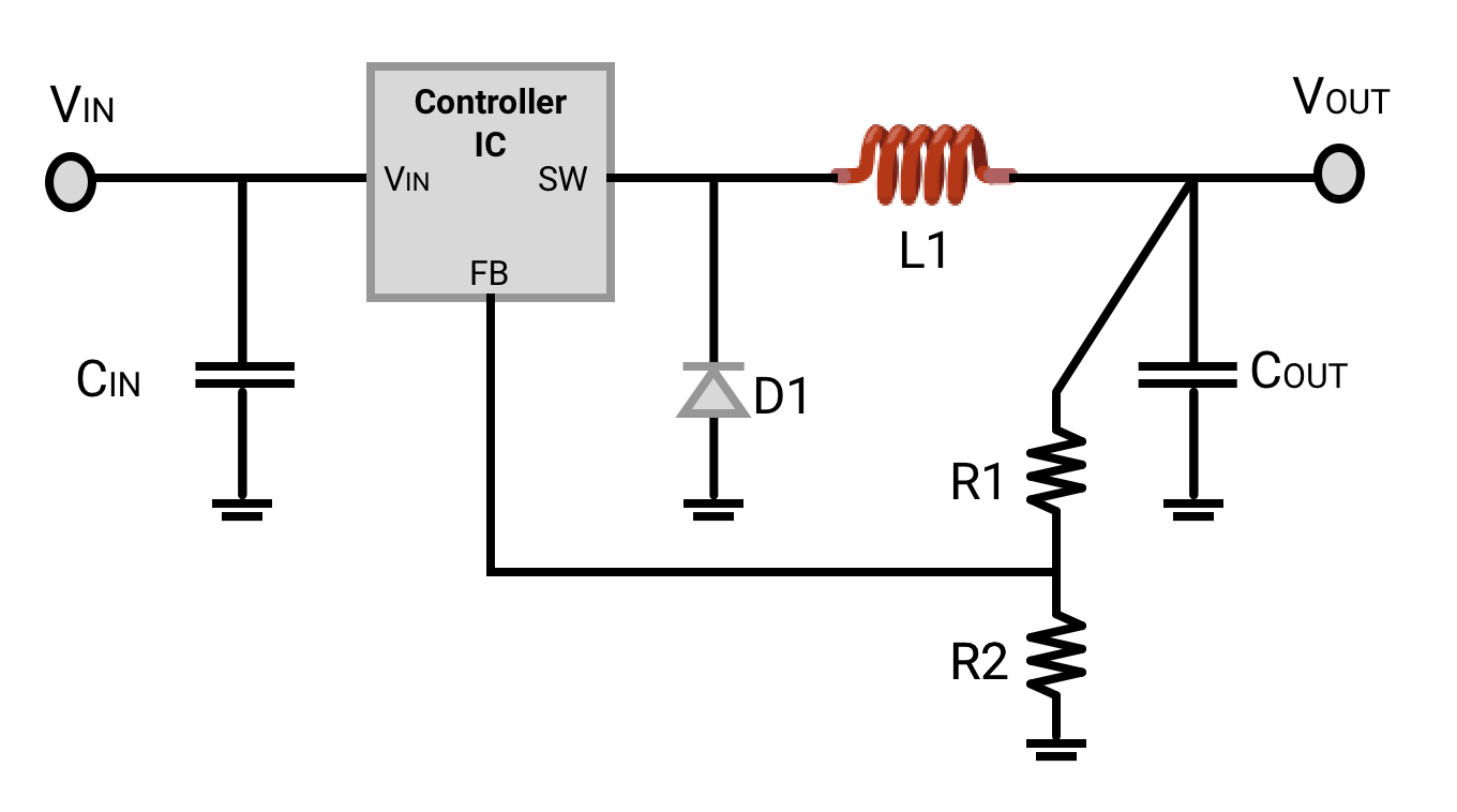 How To Select A Voltage Regulator Octopart Down Switching On Step 5v Schematic Some Dc Converters Today Replace The Diode With Transistor For Synchronous Rectification Higher Efficiency This Comes At Cost