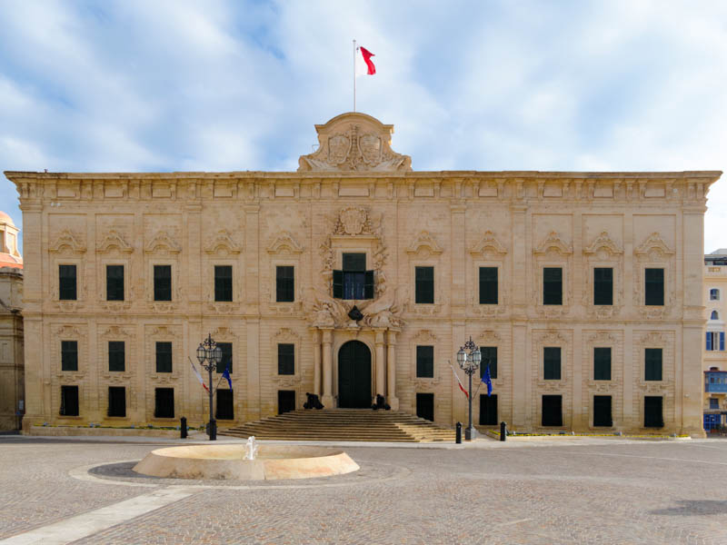 Malta Shoreline Excursions (Malta Private Tours) - Auberge de Castille, Valletta