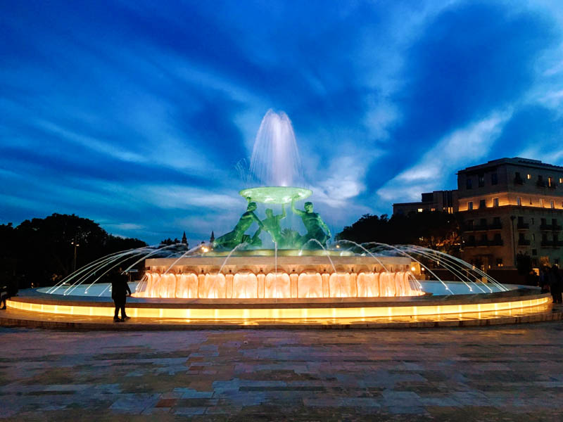 Malta Shoreline Excursions (Malta Private Tours) - Triton Fountain, Valletta
