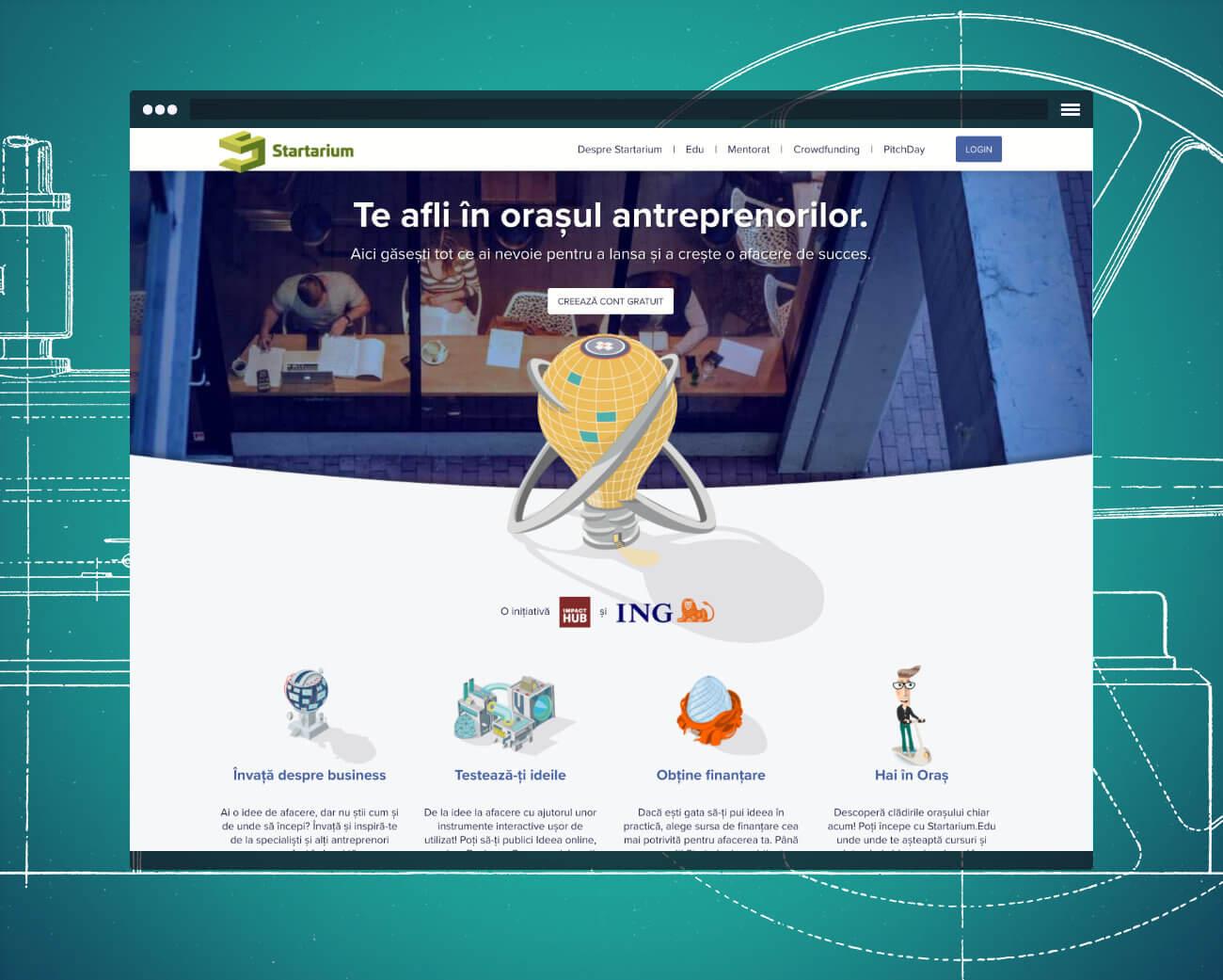 Startarium homepage