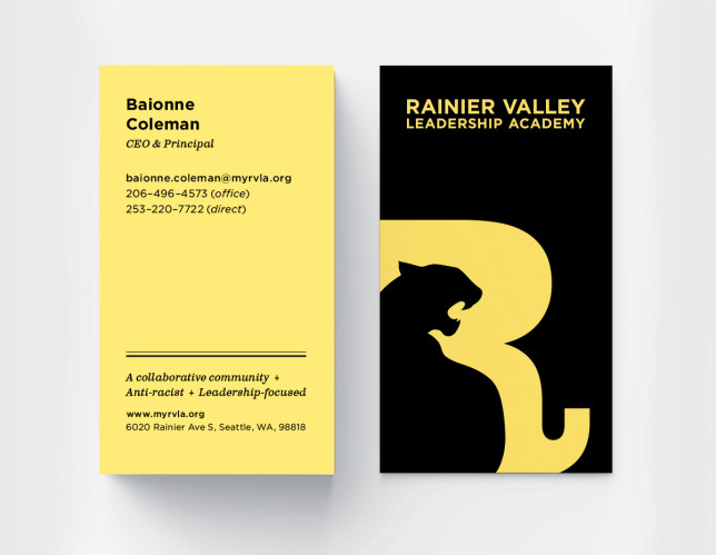RVLA business cards