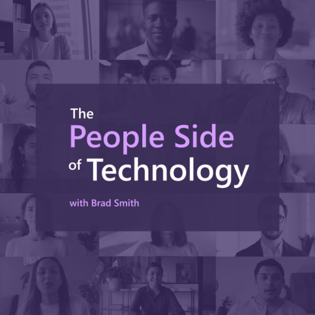 Slide for Brad Smith book showing people in tech