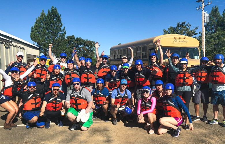 Product Team White Water Rafting