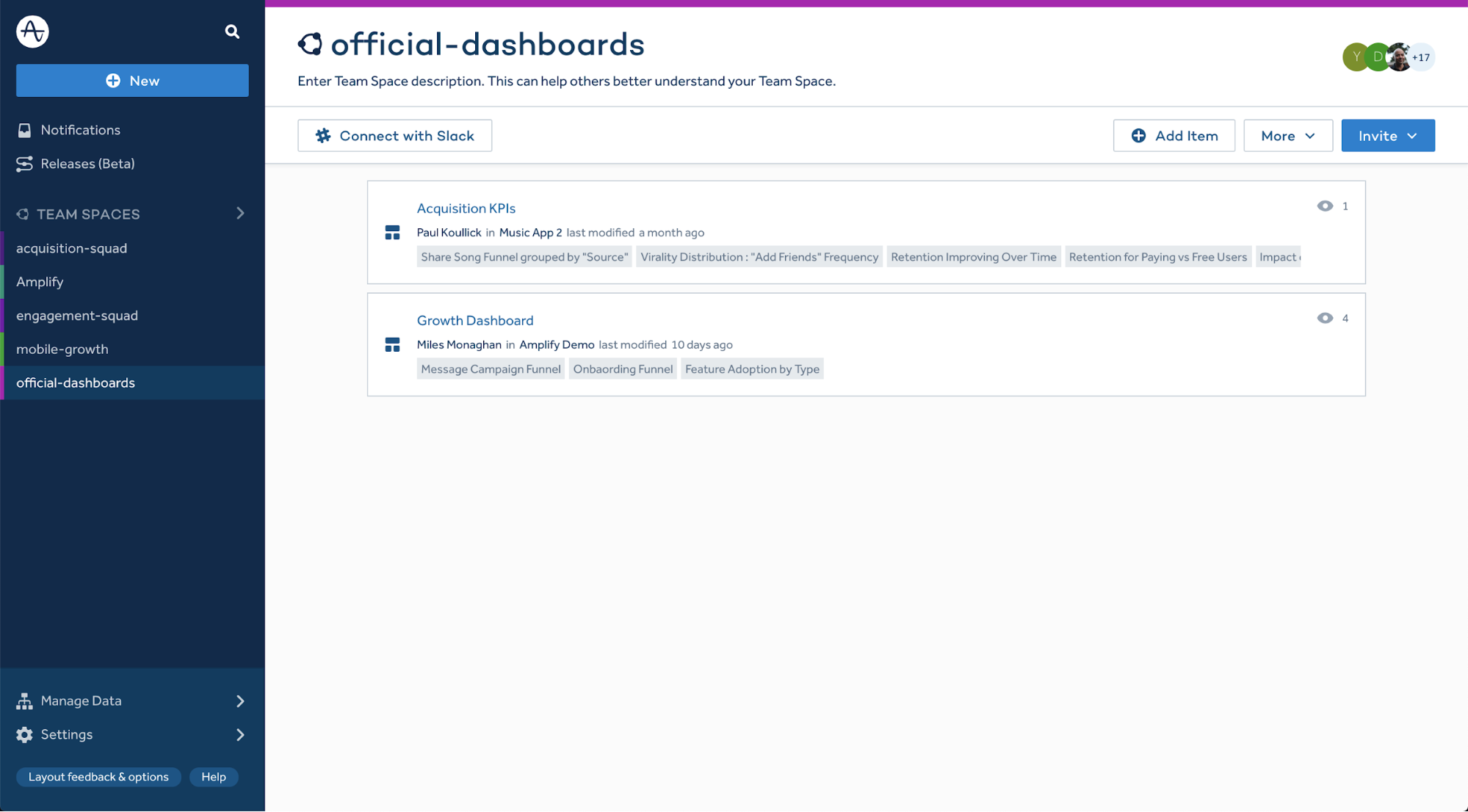 official dashboards