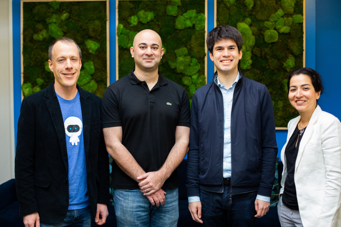ClearBrain founders with Amplitude CEO and Senior/Executive VP of Engineering