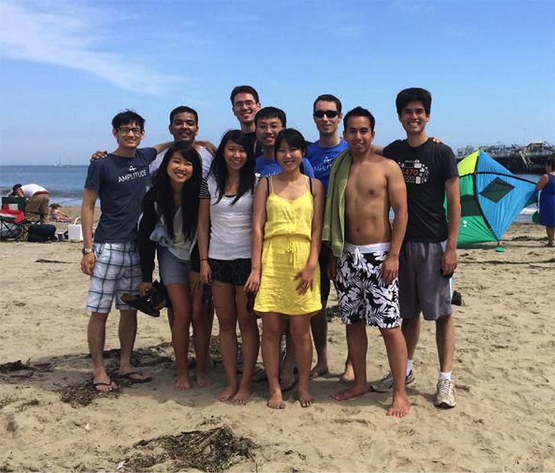 Team retreat in Santa Cruz a couple months after joining the team!