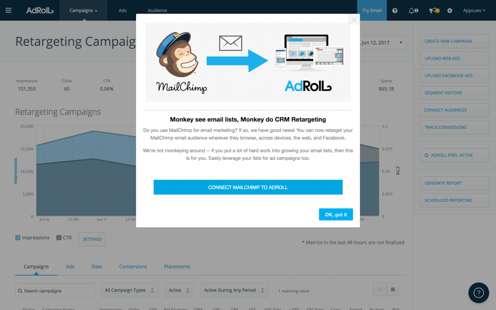 personalized-user-onboarding-example-adroll