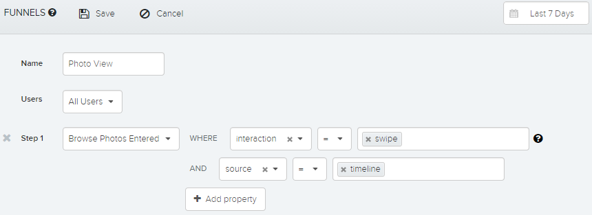 filter events on multiple event properties in funnels