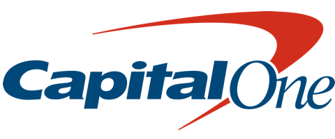 Capital One blue and red logo on Amplitude website