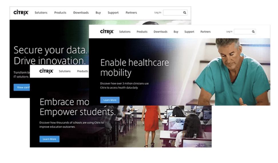 Homepage personalization by Citrix.