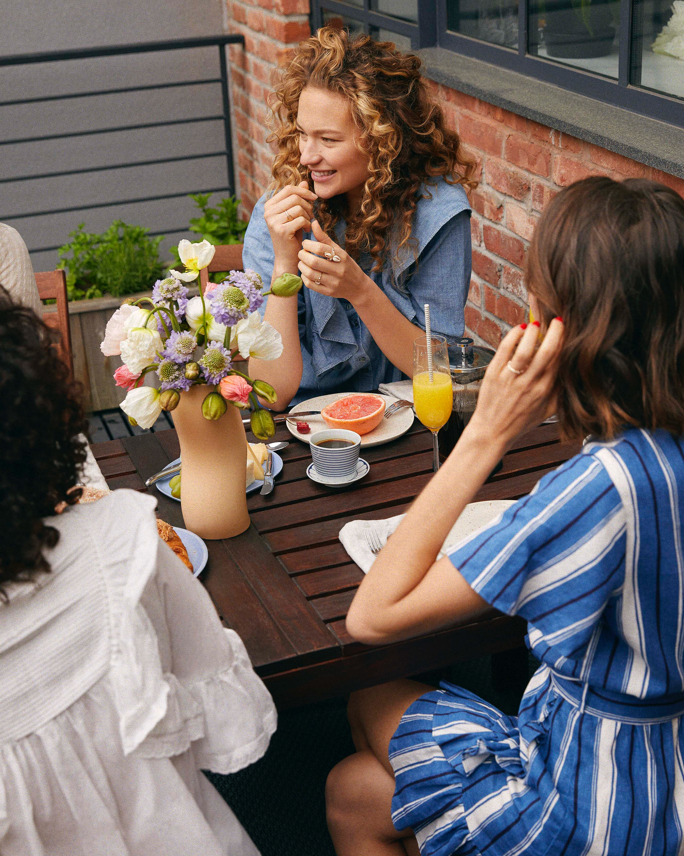 Enjoy brunch with some friends in polished whites and delicate dresses.