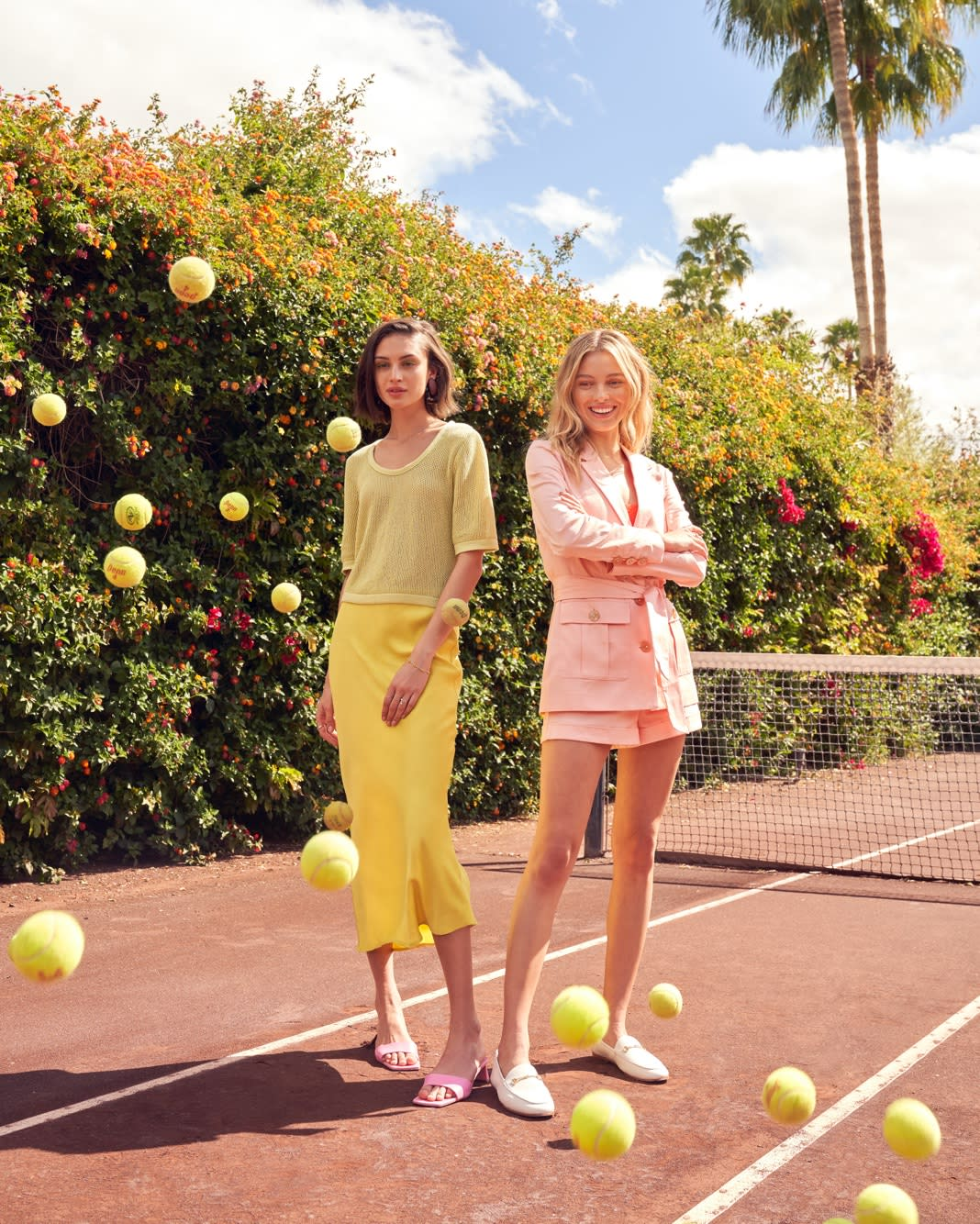 tennis in pastels
