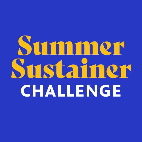 Text reads Summer Sustainer Challenge