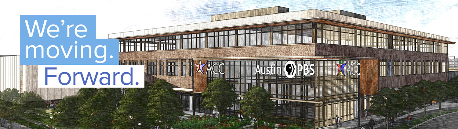 Rendering of new Austin PBS facilities at Austin Community College Highland Campus.
