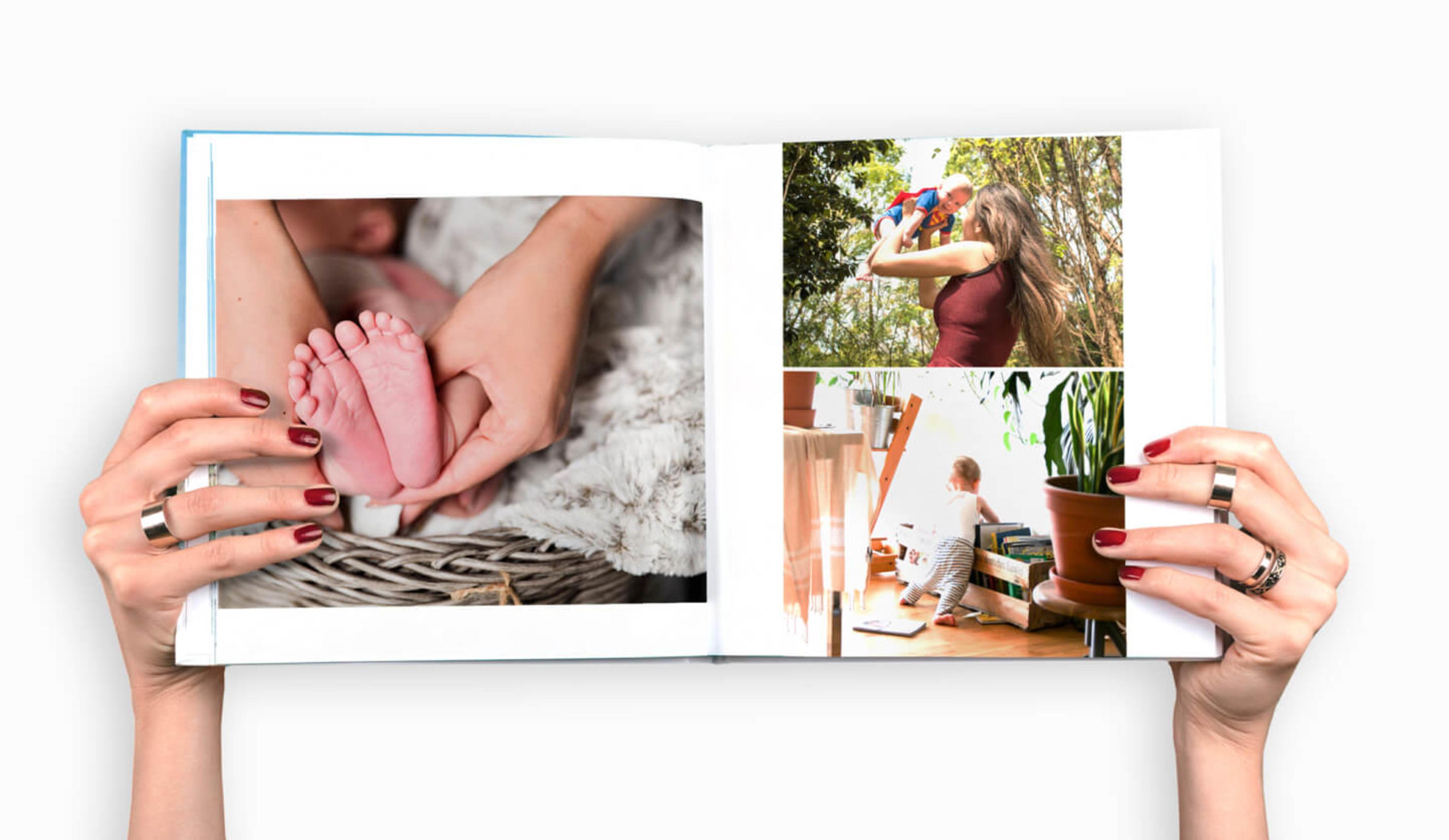open-baby-photo-book