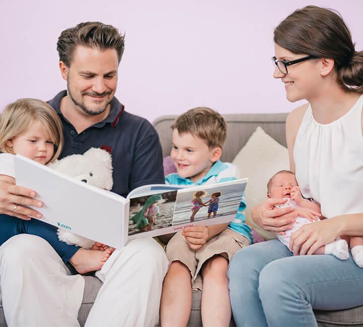family-photo-book-sofa