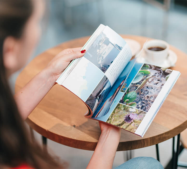 photo book with coffee