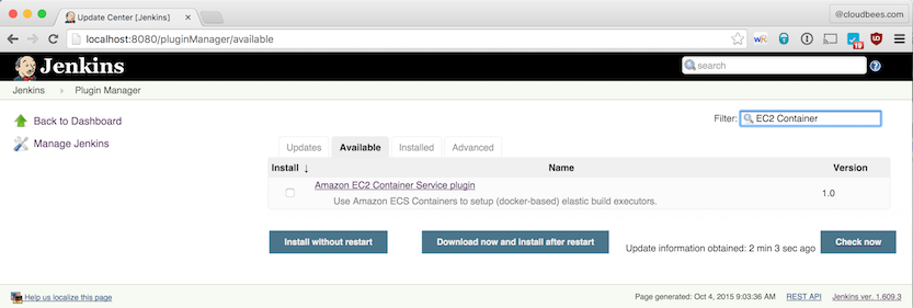 Using Amazon EC2 Container Service with Jenkins | CloudBees