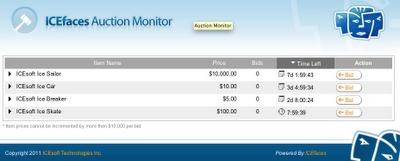 CloudBees auction app