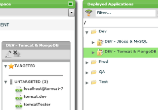 Deployment Environment for Tomcat/MongoDB