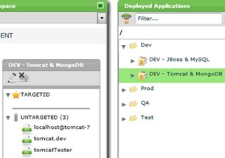 Deployment Environment for Tomcat/MongoDB
