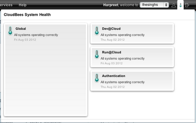 CloudBees System health