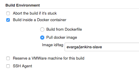 Jenkins Build Environments with Docker