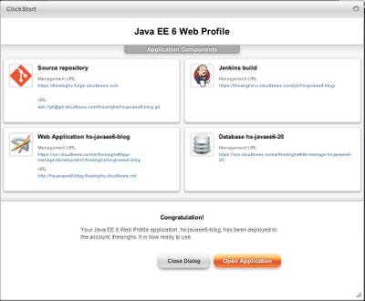 Java EE 6 App resources created