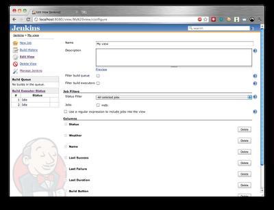 Jenkins View Configuration screen
