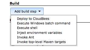 Jenkins Configuration Build phase