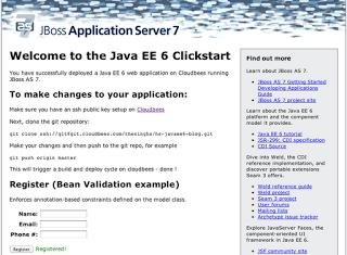 Java EE 6 Deployed application URL