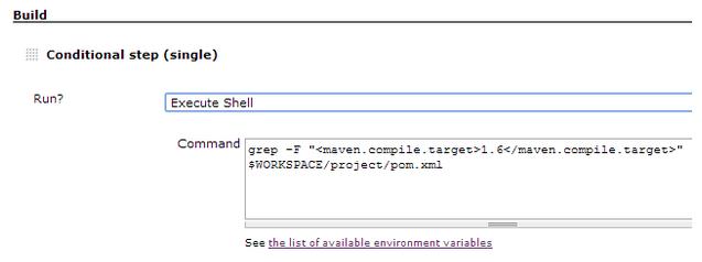 Execute Shell condition