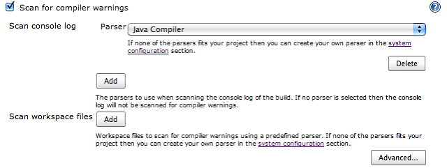 scan for compiler warnings