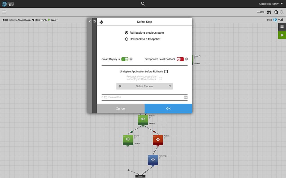Automated rollbacks screenshot