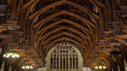Westminster Hall's hammer beam roof was built by Richard II and is the largest in northern Europe.