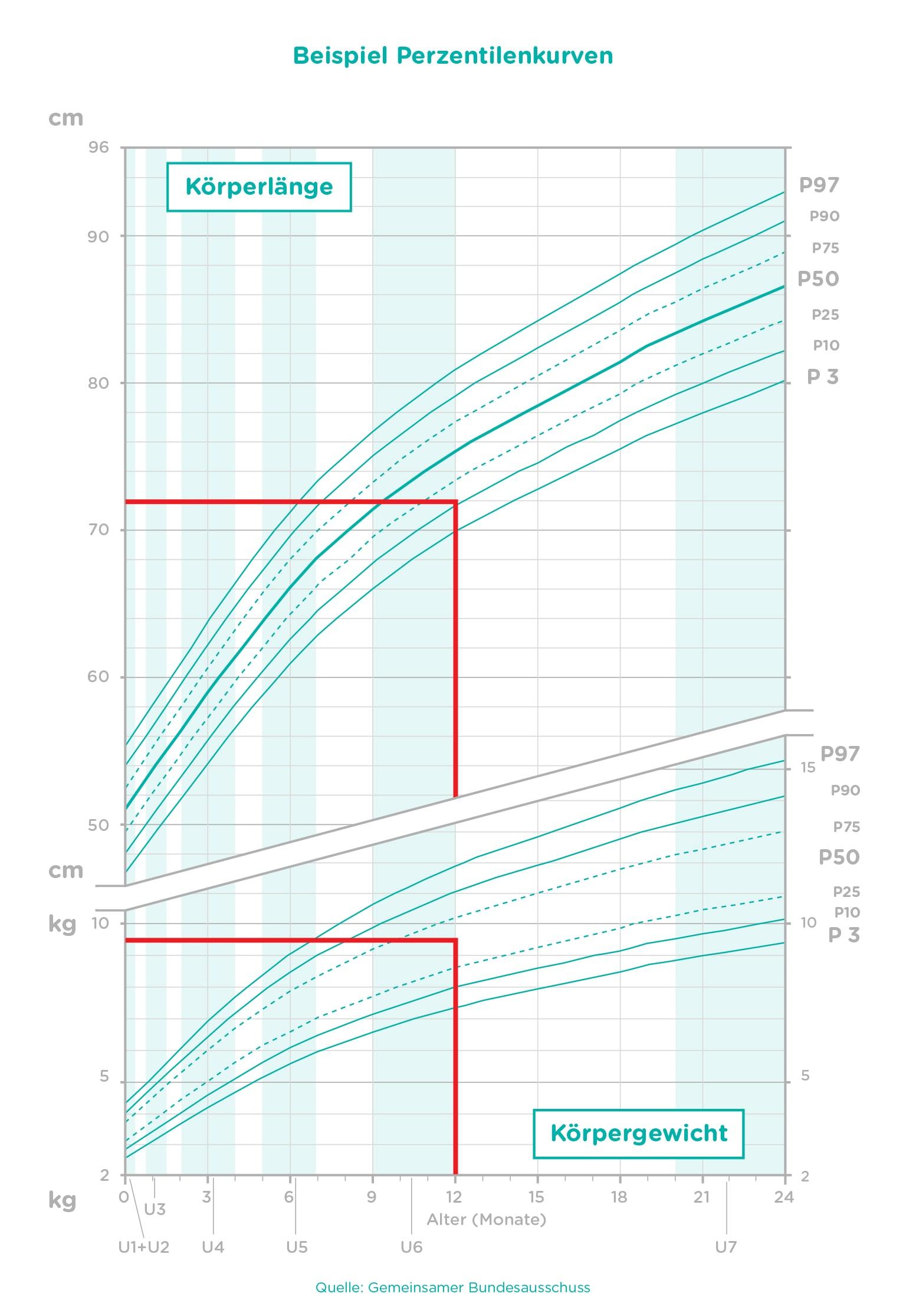 Wachstumstabelle Berechne das Babywachstum   Pampers