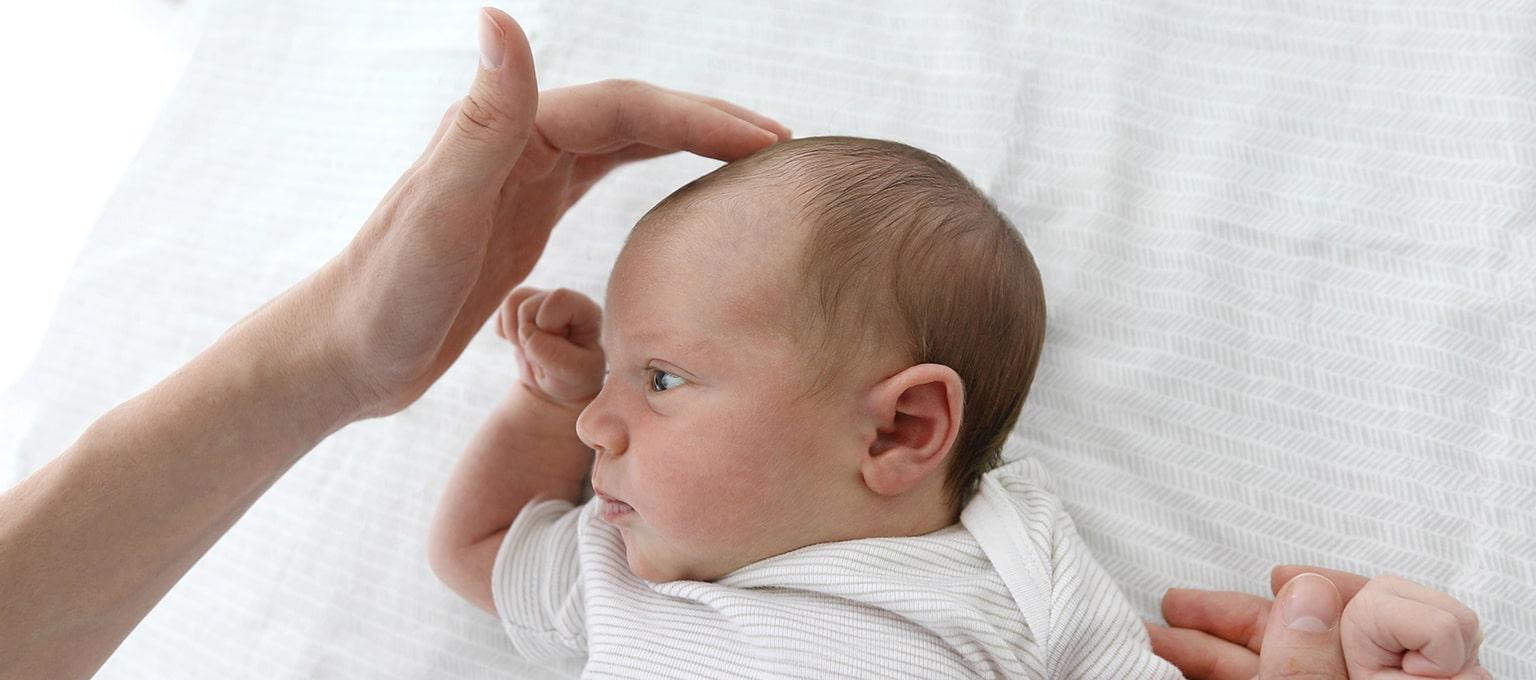 Fontanelle bei Babys