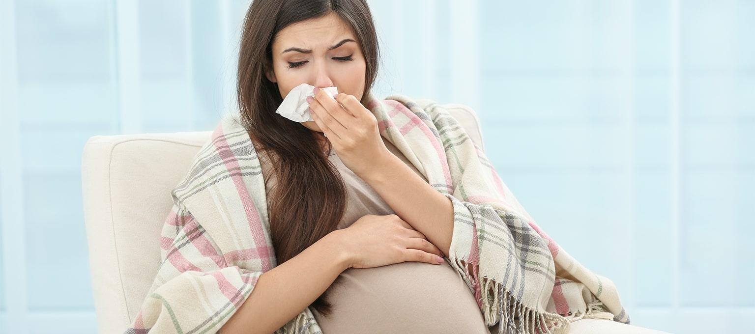 Eine Erkältung in der Schwangerschaft