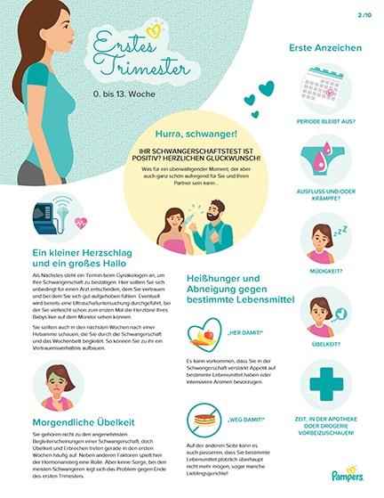 Meilensteine in der Schwangerschaft